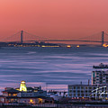 The Verrazano Bridge At Sunrise by Francisco Gomez