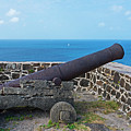 The View From Fort Rodney On Pigeon Island Gros Islet Saint Lucia Cannon by Toby McGuire
