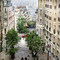 The View From Montmartre Steps, Paris France 2 by Perry Rodriguez