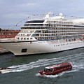 The Viking Star Cruise Liner In Venice Italy by Richard Rosenshein