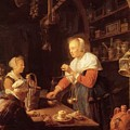 The Village Grocer 1647 by Dou Gerrit