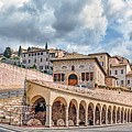 The Village Of St. Francis Of Assisi by Maggie Magee Molino