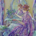 The Violet Kimono 1911 by Reid Robert Lewis