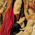 The Virgin And Child Adored By Angels  by Jean Hey