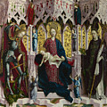 The Virgin And Child Enthroned With Angels And Saints by PixBreak Art