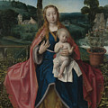 The Virgin And Child In A Landscape by PixBreak Art