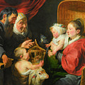 The Virgin And Child With St. John And His Parents by Jacob Jordaens