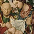 The Virgin And Saint Joseph  Adoring The Christ Child by Giovanni Francesco Maineri