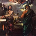 The Virgin Appearing To Saints John The Baptist And John The Evangelist 1520 by Dossi Dosso