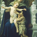 The Virgin Baby Jesus And Saint John The Baptist by William Bouguereau