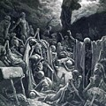 The Vision Of The Valley Of Dry Bones 1866 by Dore Gustave