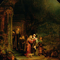 The Visitation by  Rembrandt Harmensz van Rijn