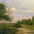 The Wagon by Jean Baptiste Camille Corot