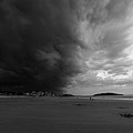 The Wall Of The Storm Good Harbor Beach Gloucester Ma Black And White by Toby McGuire