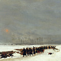 The War Of 1870 An Infantry Column On Their Way To A Raid by Jean-Baptiste Edouard Detaille