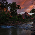 The Watchman Along The Virgin River Sunset by Scott McGuire