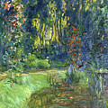 The Water-lily Pond At Giverny  by Claude Monet