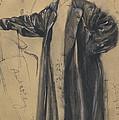 The Waterproof Coat Of General Moltke by Adolph Menzel