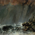 The Waterspout by Gustave Courbet