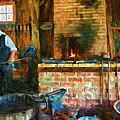 The Way We Were - The Blacksmith - Paint by Steve Harrington