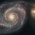 The Whirlpool Galaxy M51 And Companion by Stocktrek Images