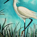 The White Egret by Elizabeth Robinette Tyndall