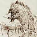 The Wild Boar by Adolf Oberlander