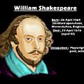 The William Shakespeare by Artist Nandika Dutt