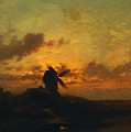 The Windmill 1859 by Dupre Jules