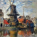 The Windmill Amsterdam Claude Monet 1874 by Movie Poster Prints