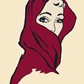 The Woman With The Crimson Veil by Heidi De Leeuw