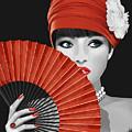 Woman With Paper Fan by Monika Juengling