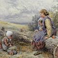 The Woodcutter's Children by Myles Birket Foster