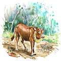 The Worlds Smallest Cow by Miki De Goodaboom