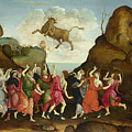 The Worship Of The Egyptian Bull God Apis by PixBreak Art