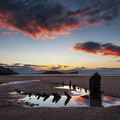 The Wreck Of The Helvetia And Worms Head by Leighton Collins