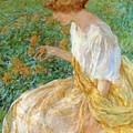 The Yellow Flower 1908 by Reid Robert Lewis