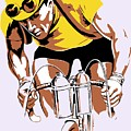 The Yellow Jersey Retro Style Cycling by Heidi De Leeuw