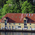 The 1905 Wooden Andreas Odfjell Warehouse On Bergen Harbor by Harvey Barrison