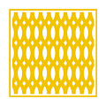 Thick Curved Trellis With Border In Mustard by Custom Home Fashions