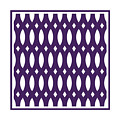 Thick Curved Trellis With Border In Purple by Custom Home Fashions