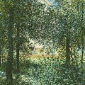 Thicket  The House Of Argenteuil by Claude Monet