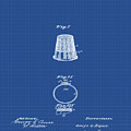Thimble Patent 1891 In Blue Print by Bill Cannon