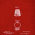 Thimble Patent 1891 In Red by Bill Cannon