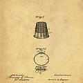 Thimble Patent 1891 In Sepia by Bill Cannon