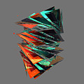 Thin Glass Triangles - 127 by Jovemini ART