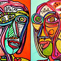 -think Bi-polar Faces by Sandra Silberzweig
