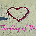 Thinking Of You Card by John Malone