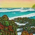 Third Bay Coolum Beach Triptych by Joe Michelli