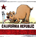 Thirsty California Flag by Daryl Cagle